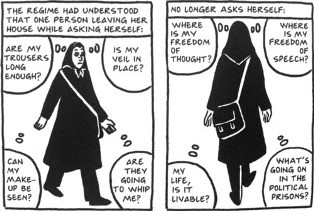 Banned Books Persepolis comic
