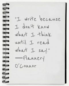 Flannery O'Connor writing quote