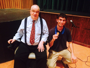 John Manear and student