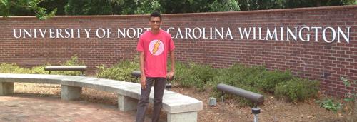 University of North Carolina Wilmington sign