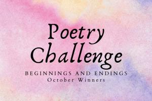 October Poetry Challenge Winners